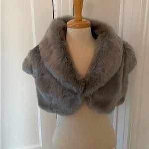 Lulu Guinness faux fur cropped jacket